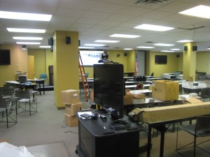 Excuse the mess, the Rubin Center for Education gets a technology facelift.
