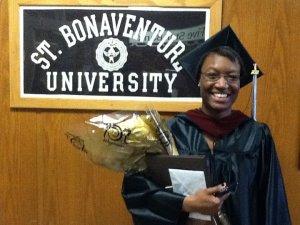 A proud Bonnie on graduation day.