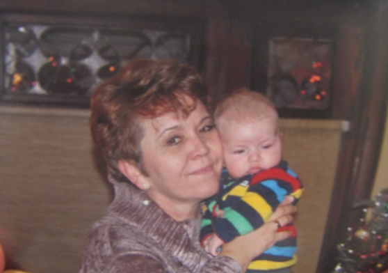 Galina with her grandson Peter.