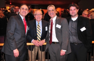 MCBA President Steve Modica, the Hon. Michael A. Telesca, the Hon. Jonathan Feldman and Matt Spaull at The Strong (National Museum of Play) in Rochester on Wednesday, April 8, 2015.