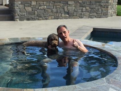 Me & Maverick in the Hot Tub
